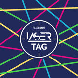 Laser tag target game poster flyer. Vector lasertag banner for fun party.. Aim shot poster Stock Photography