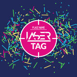 Laser tag target game poster flyer. Vector lasertag banner for fun party. Aim shot poster.  Royalty Free Stock Images