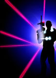 Laser-Taghintergrund Lizenzfreie Stockfotos