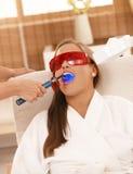 Laser tooth whitening Royalty Free Stock Image