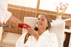 Laser tooth whitening Stock Images