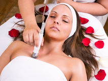 Laser and ultrasound treatment Stock Image