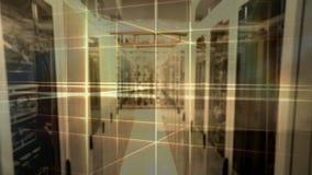 Laser- und Daten-Service-Center lizenzfreie abbildung