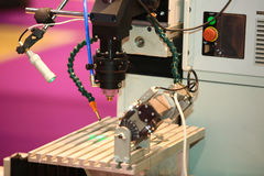 Laser is used for quality control Stock Photo