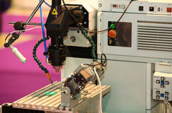 Laser is used for quality control Stock Image