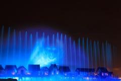 Laser-zeigen in Sentosa, Singapur Stockbild