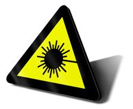 Laser zone. Warning sign laser zone, 3d illustration Royalty Free Stock Images