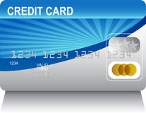Laserbeam Credit Card Stock Photo