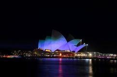 Lasergevolgen voor Operahuis 14 Royalty-vrije Stock Fotografie