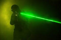 Lasergezichten Stock Foto's