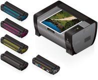 laserjet drukarka Zdjęcia Stock