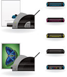 LaserJet Printer Stock Image