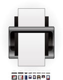 LaserJet Printer & Memory Cards Stock Images