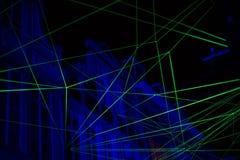 Laserlichtanzeige Stockfotografie