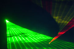 Laserlichten Royalty-vrije Stock Fotografie