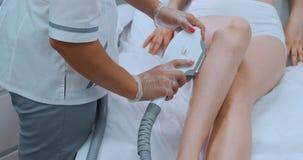 Laserowa epilacja i kosmetologia W?osiana usuni?cie kosmetologii procedura Laserowa epilacja i kosmetologia Kosmetologia i zbiory wideo