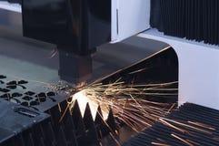 Laserowa krajacz maszyna obrazy royalty free