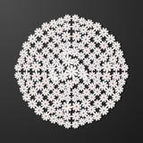 Laserowego cięcie papieru kwiatu rocznika wzoru diamentowy wektor Fotografia Royalty Free