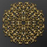 Laserowego cięcie papieru kwiatu rocznika wzoru diamentowy wektor Fotografia Stock