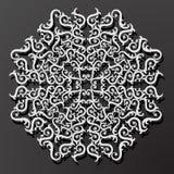 Laserowego cięcie papieru kwiatu rocznika wzoru diamentowy wektor Obraz Royalty Free