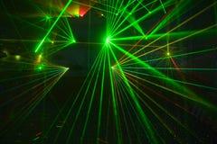 laserowy dyskoteki przedstawienie fotografia stock