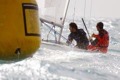 Laserowy żeglowania regatta Obraz Royalty Free
