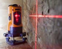 Laserowy pomiar równy dla robot budowlany, mała głębia ciętość obraz stock