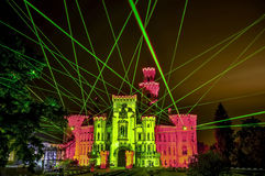 Laserowy przedstawienie zdjęcia stock