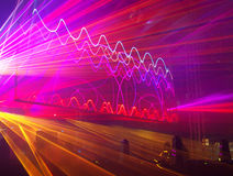 Laserowy przedstawienie przy festiwalem w Łódzkim fotografia stock