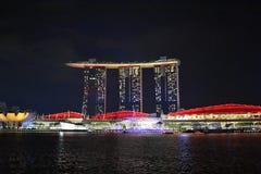 Laserowy przedstawienie Singapur obraz royalty free