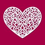 Laserowy rżnięty wektorowy kierowy ornament Wycinanki deseniowa sylwetka z abstrakcjonistycznymi kształtami Kostka do gry rżnięty ilustracja wektor