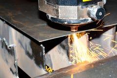 laserowy zamknięta przemysłowa laserowa fotografia Fotografia Royalty Free