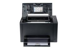 Laserprinter met geopend schutblad Stock Fotografie