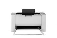 Laserprinter op witte achtergrond wordt geïsoleerd die Royalty-vrije Stock Foto's