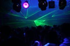 Lasers del club de noche Fotos de archivo