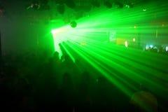 Lasers verdes Fotografía de archivo