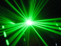 Lasers verts Photo stock