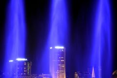 Lasershow, Σιγκαπούρη στοκ εικόνα