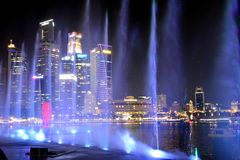 Lasershow, Σιγκαπούρη στοκ φωτογραφία με δικαίωμα ελεύθερης χρήσης