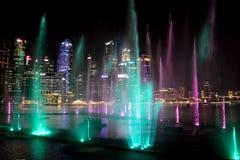 Lasershow, Σιγκαπούρη στοκ φωτογραφία