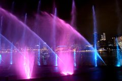 Lasershow, Σιγκαπούρη στοκ εικόνες με δικαίωμα ελεύθερης χρήσης