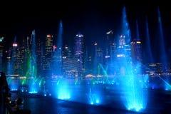 Lasershow, Σιγκαπούρη στοκ εικόνες