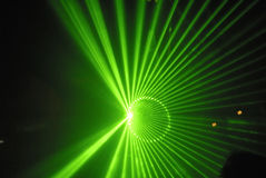 Lasershow. With blue lasers in a modern discotheke royalty free stock image