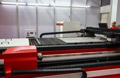 Lasersnijmachine stock fotografie