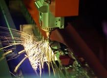Lasersnijmachine stock foto's