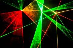 Laserstrålar Arkivfoto