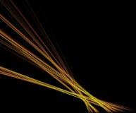 Laserstrålen slår spegelyttersidan reflekterar Royaltyfria Bilder