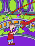 Lasertag Games. Children play a game of laser tag Royalty Free Stock Images