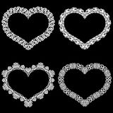 Laseru cięcia rama w formie serca z koronki granicą Set podstawy dla papierowego doily dla ślubu Set valen royalty ilustracja