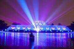 Laseru i światła przedstawienie przy kew ogródami Obraz Royalty Free